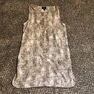 Snakeskin Print Shift Dress
